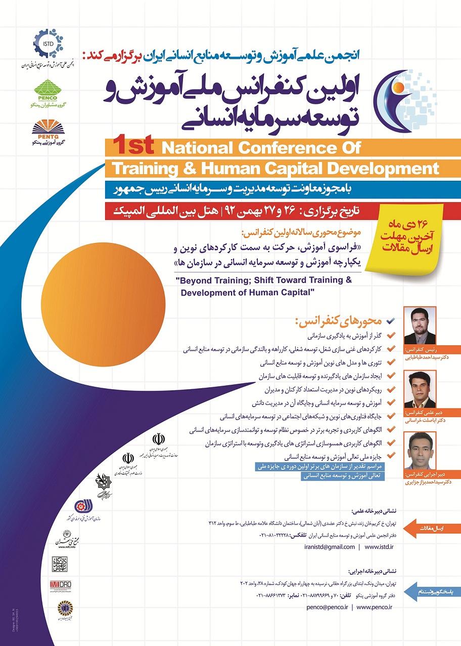 اولین کنفرانس ملی آموزش و توسعه سرمایه انسانی