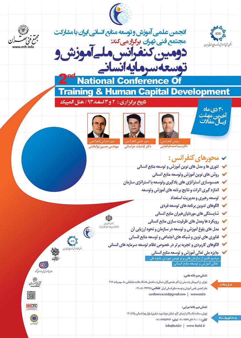 دومین کنفرانس ملی آموزش و توسعه سرمایه انسانی